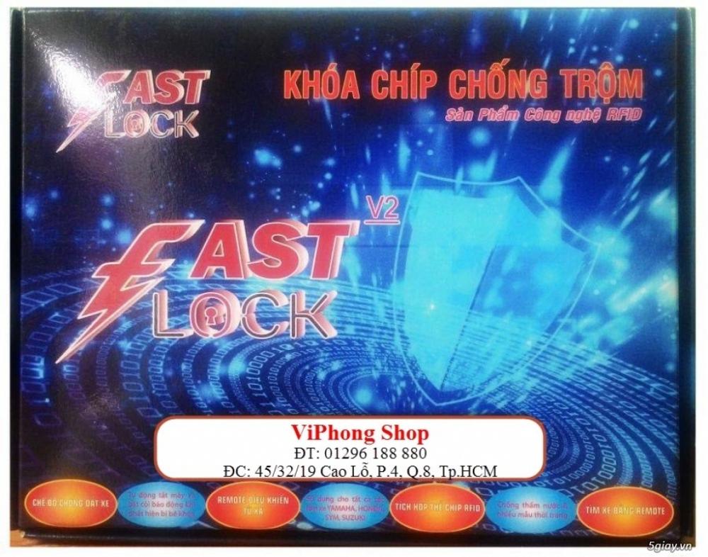 Khoa chong trom FAST LOCK V20 ket hop SmartKey cua Honda mo xe nhan nut - 6