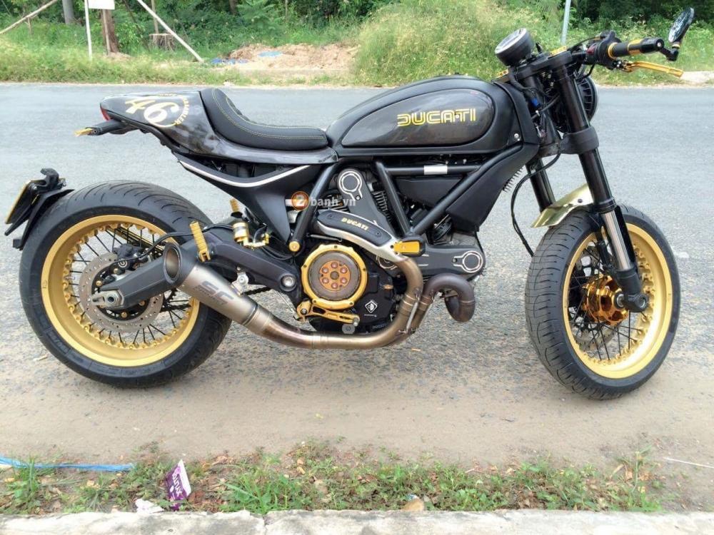Ducati Scrambler do Cafe Racer day an tuong