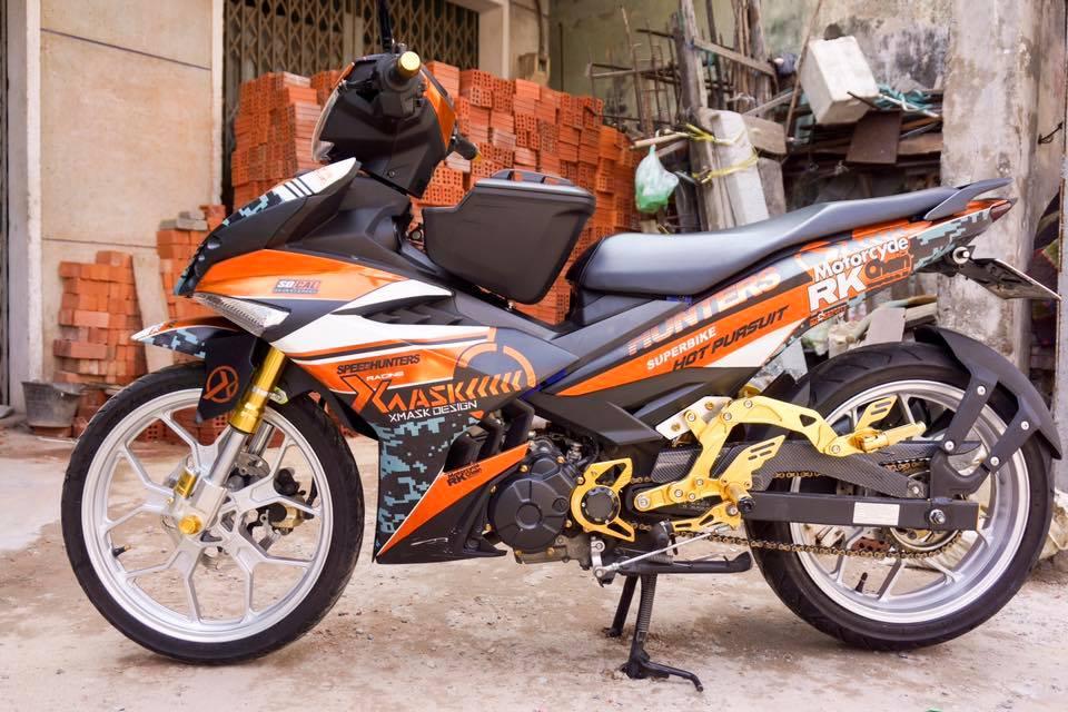 Exciter 150 day phong cach voi phien ban SpeedHunters Racing