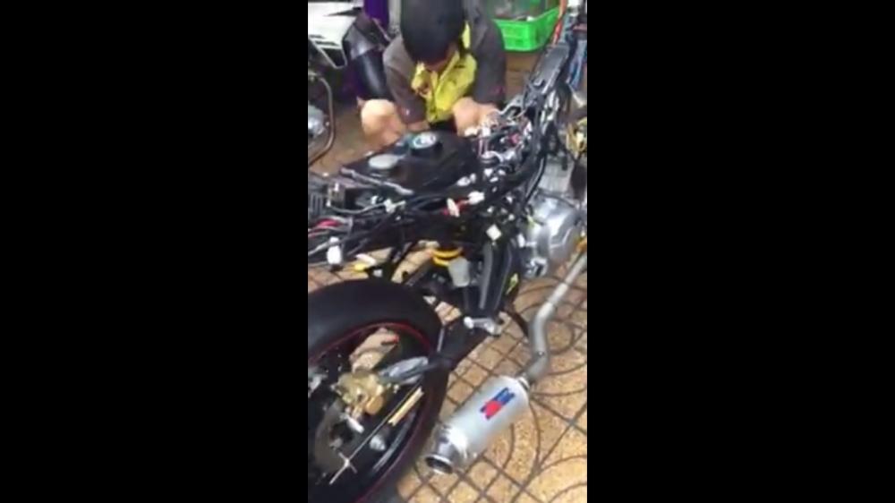 Clip Exciter 150 Mx King 150 gao thet voi 2 voi phun racing turbo
