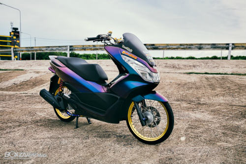 Ngam Honda PCX 150 do vang sieu dat cua dan choi