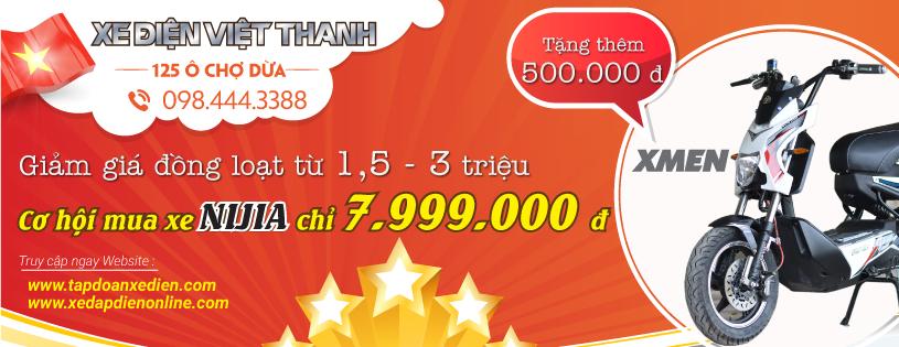 Xe dien Viet Thanh khuyen mai cuc soc