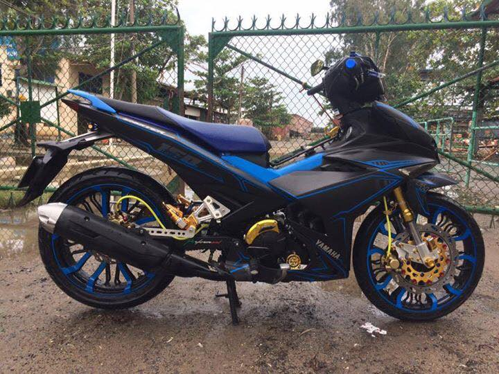 Exciter 150 don nhe voi dan chan cung cap