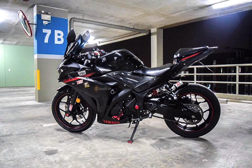 Yamaha R3 do day phong cach voi phien ban Dark Knight - 3