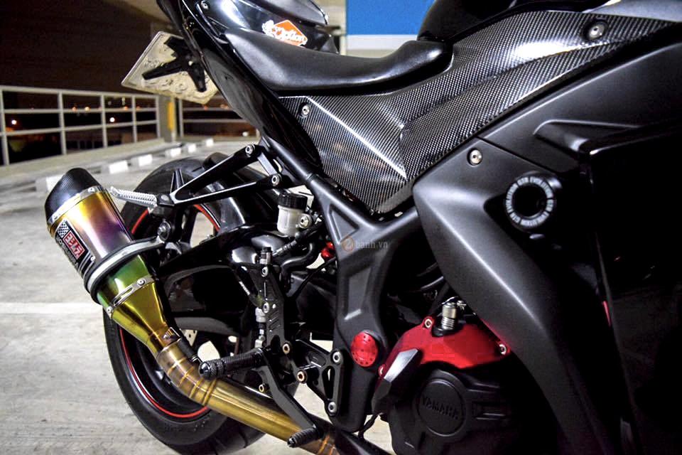 Yamaha R3 do day phong cach voi phien ban Dark Knight - 9
