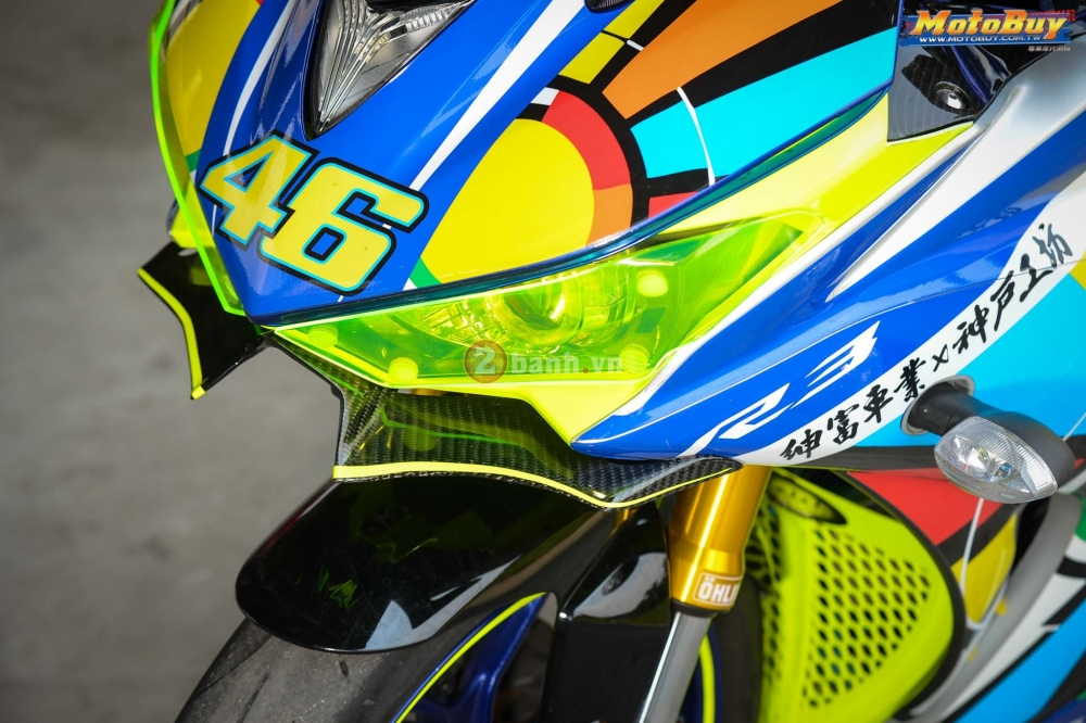 Yamaha R3 noi bat trong ban do cuc chat voi phong cach Valentino Rossi - 3