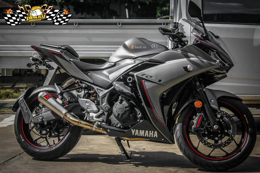Yamaha R3 trong ban do day manh me dam chat the thao
