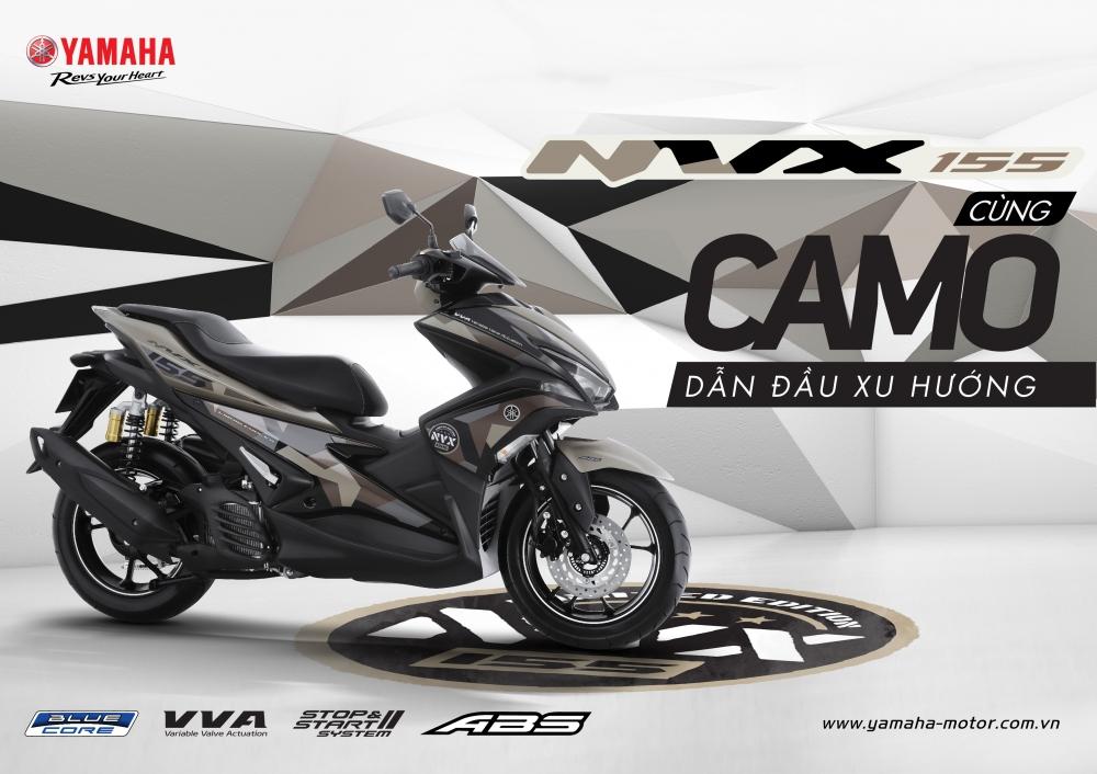 Yamaha NVX 155 Camo chinh thuc duoc ra mat voi gia tu 52690000 Dong
