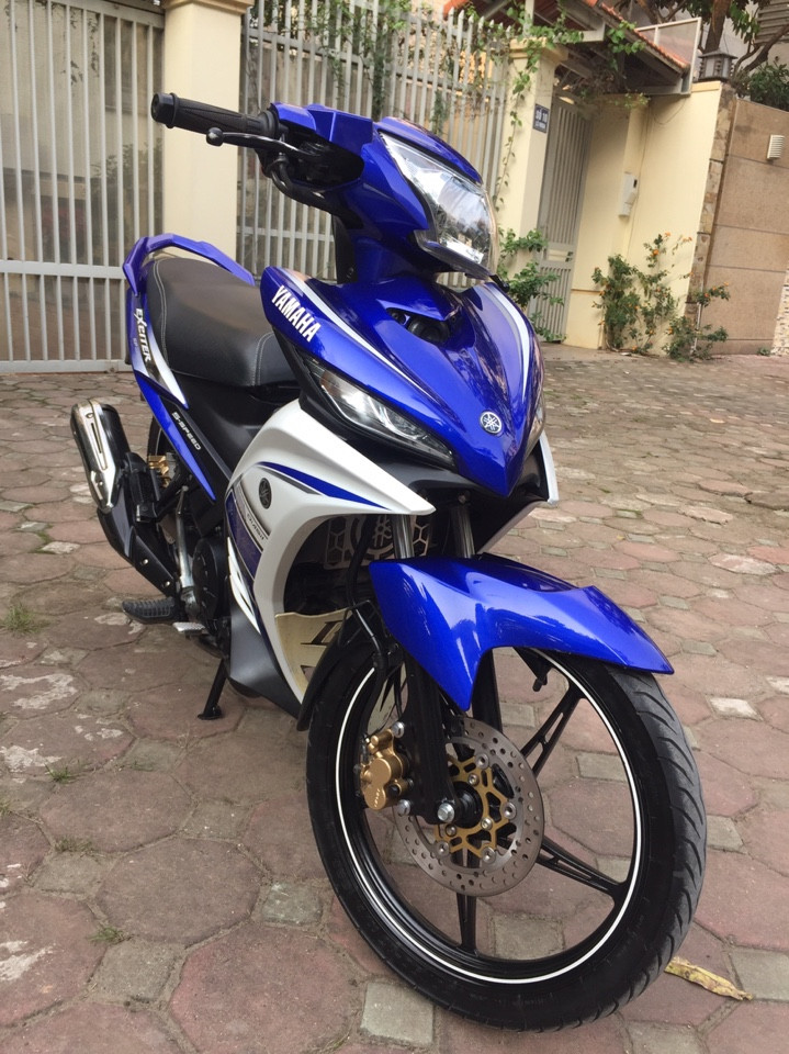 Ban Yamaha Exciter135 GP 2013 xanh trang 29Y chinh chu 28tr800 nguyen ban