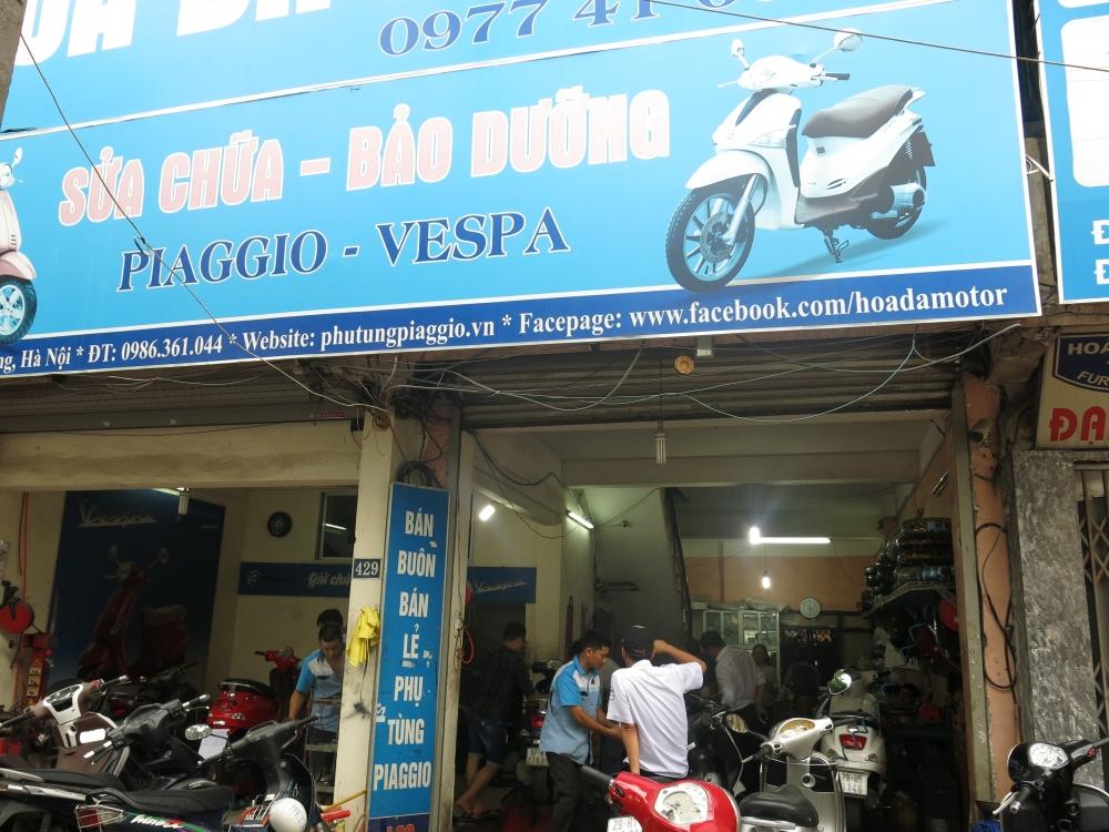 Bao duong xe Piaggio Vespa chuyen nghiep tai Ha Noi Cua Hang Hoa Da Piaggio