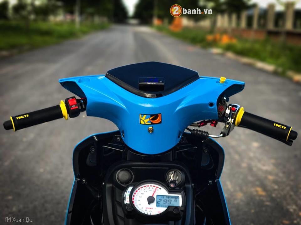Exciter 135cc phien ban do phong cach Drag xanh yeu thuong - 3