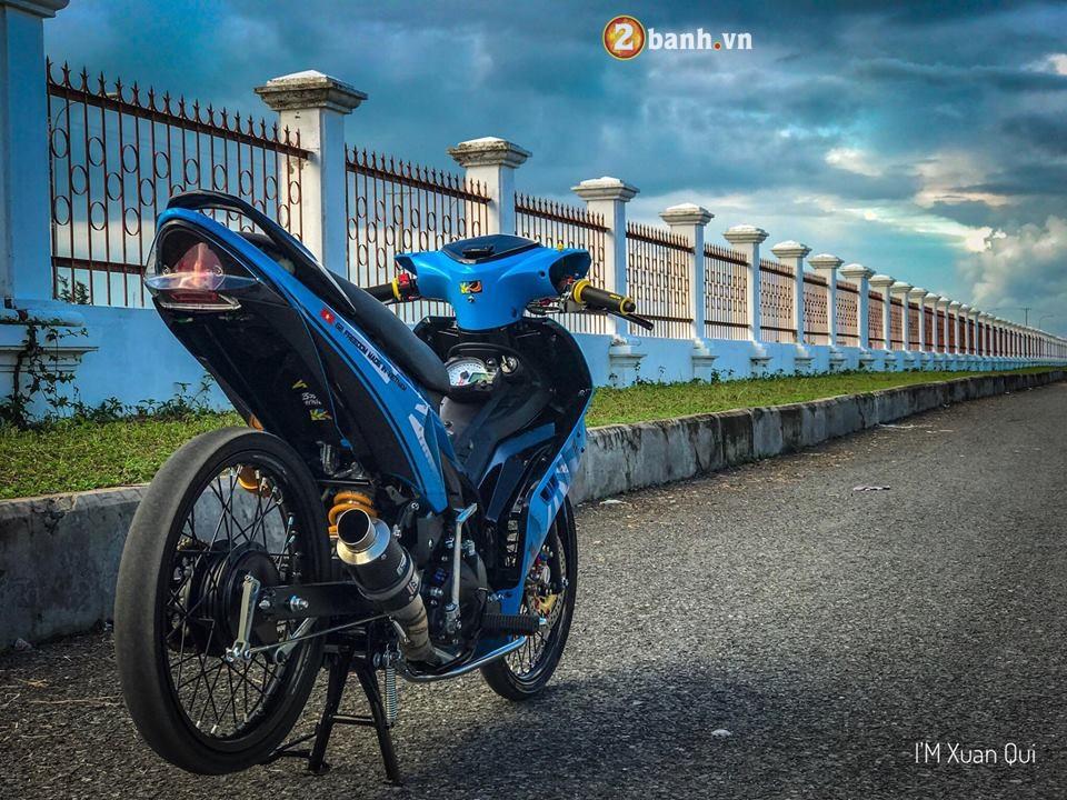 Exciter 135cc phien ban do phong cach Drag xanh yeu thuong - 8