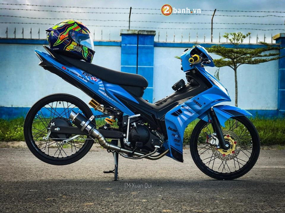 Exciter 135cc phien ban do phong cach Drag xanh yeu thuong