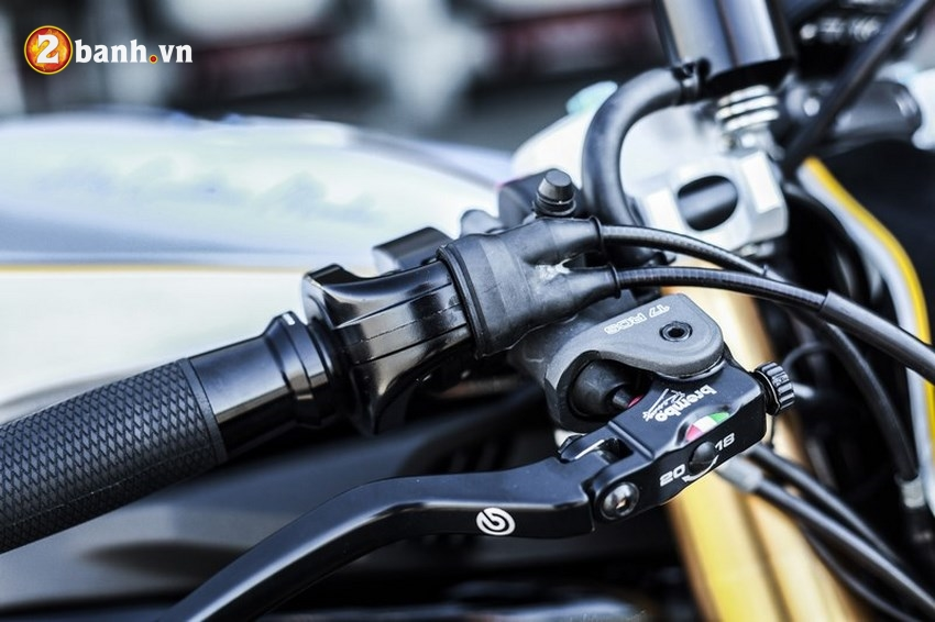 Kawasaki ER6n lot xac cung phong cach Cafe Race tran trui - 8
