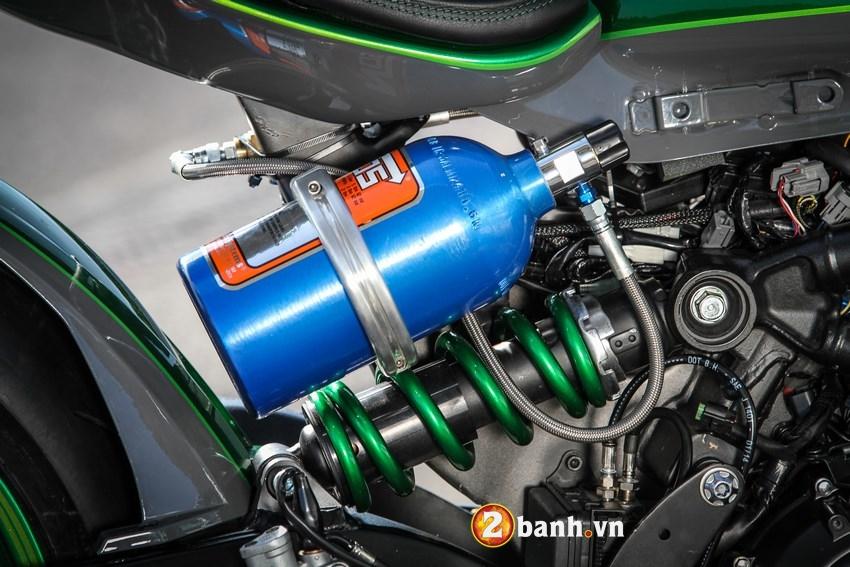Kawasaki Vulcan do phong cach Cafe Race duong pho - 7