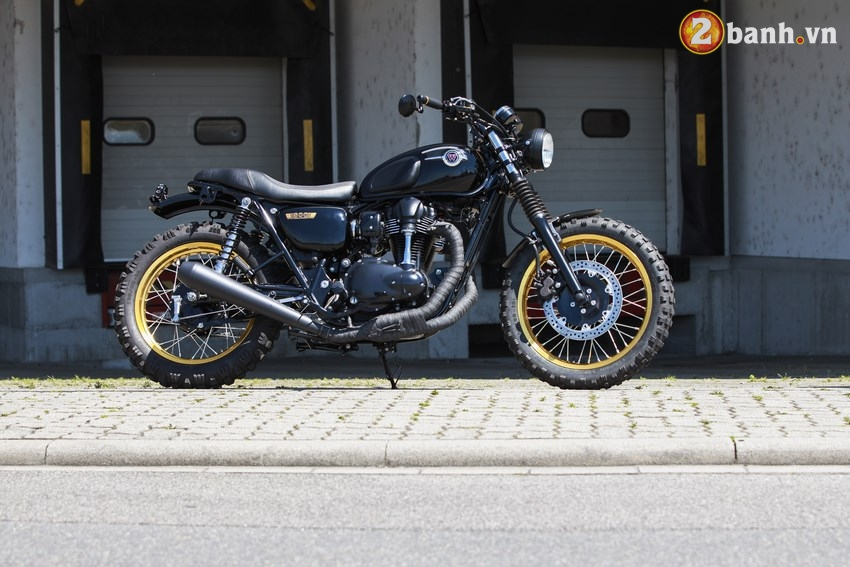 Kawasaki W800 Su hoa tron net co dien va yeu to manh me
