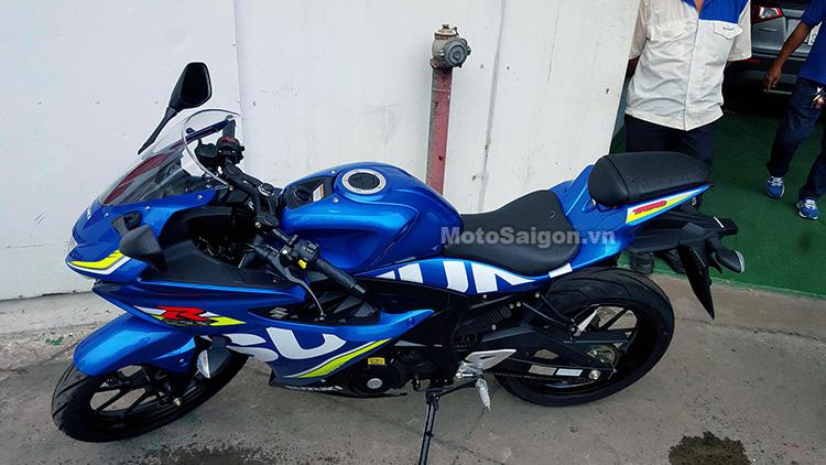 Mau sportbike co nho Suzuki GSXR150 chinh hang da ve den dai li voi gia de xuat 75 trieu dong - 7