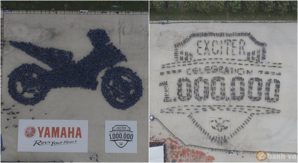 Yamaha Motor Viet Nam xac lap 2 ky luc Guinness the gioi trong su kien ky niem 1000000 xe Exciter