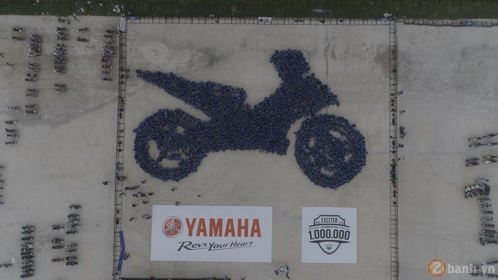 Yamaha Motor Viet Nam xac lap 2 ky luc Guinness the gioi trong su kien ky niem 1000000 xe Exciter - 6
