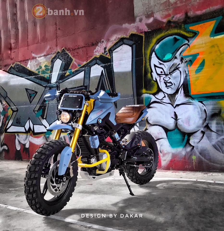 BMW G310R do lot xac day ngoan muc cua biker Dai Loan