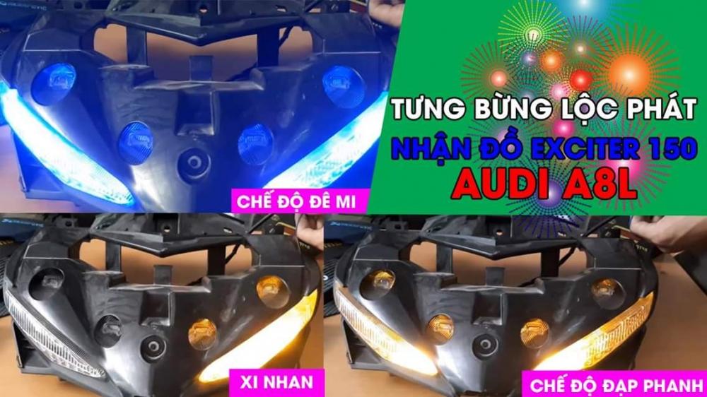 Den Led Xinhan Chay Hieu Ung Audi A8l Xe Exciter 150