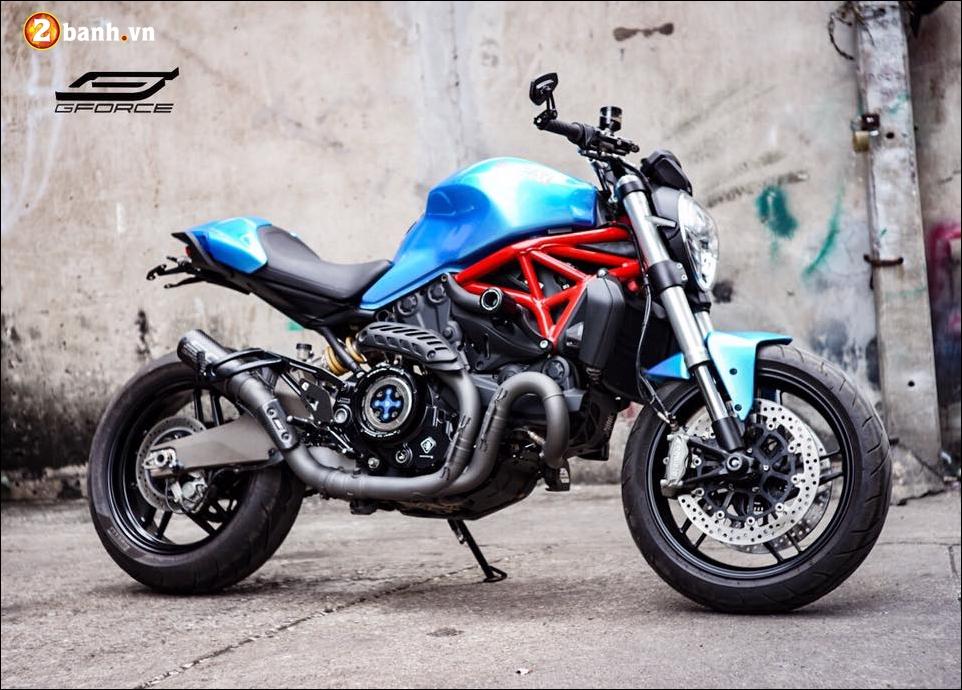 Ducati Monster 821 do noi bat cung xanh tuoi mat Atlantis Blue
