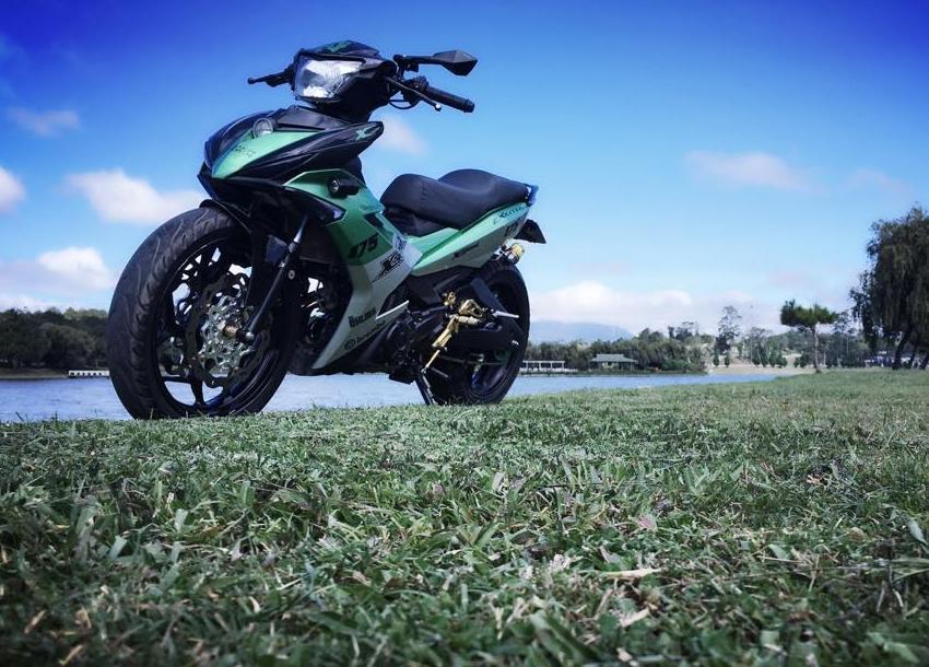 Exciter 150 do kieng buc pha day manh me cua biker Lam Dong - 8