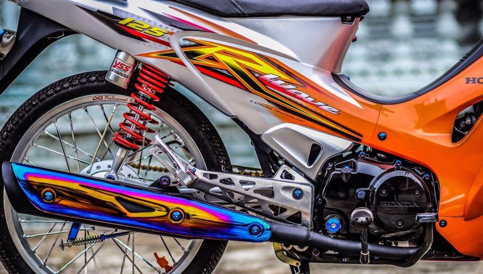 Future 2 do phong cach Wave 125 leng keng xa beng cua Biker Soc Trang - 5