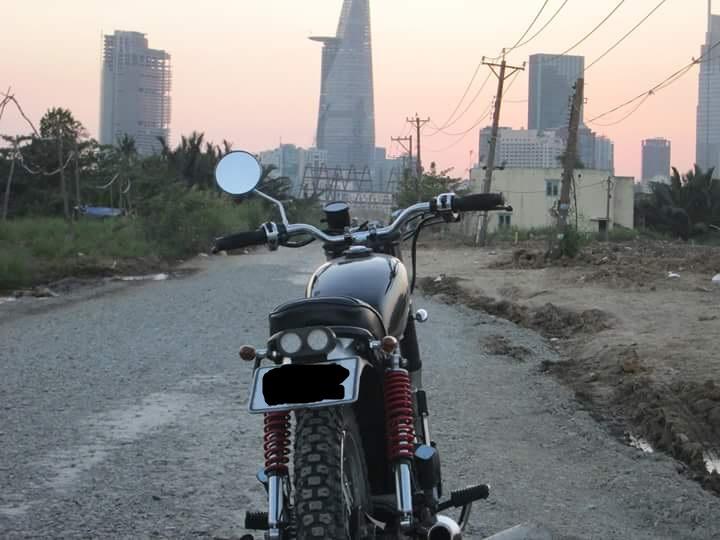 Honda GL 125 do Tracker qua cam nhan cua chang sinh vien cong nghe - 6