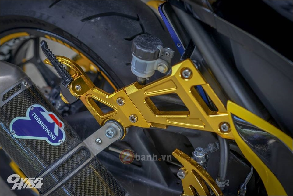 Kawasaki Z300 do noi loan cung phong cach Monster yellow - 9