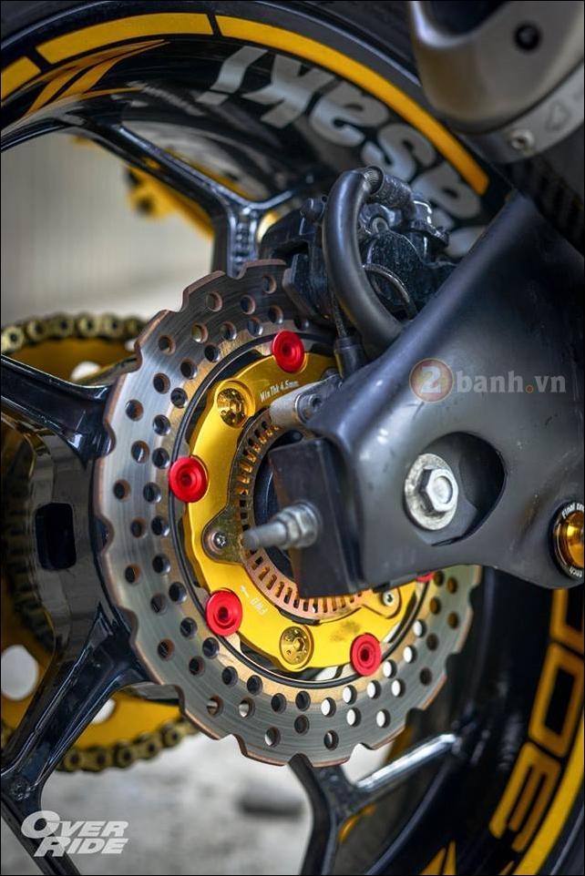 Kawasaki Z300 do noi loan cung phong cach Monster yellow - 11