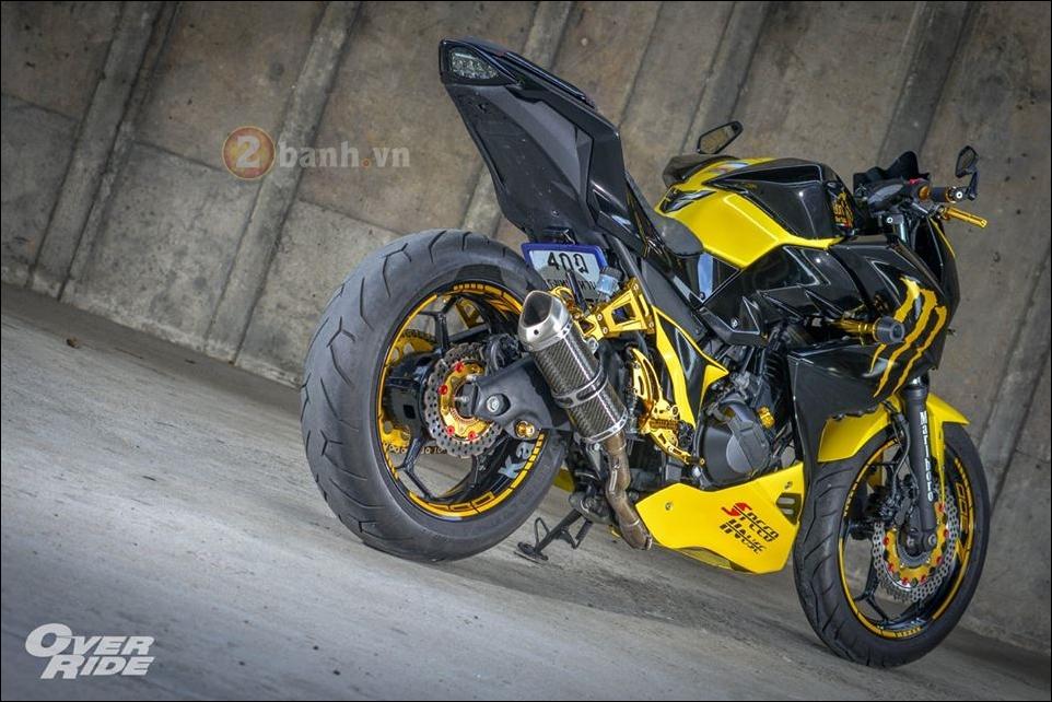 Kawasaki Z300 do noi loan cung phong cach Monster yellow - 13