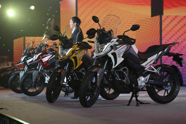 Moto phuot Honda CB190X 2017 chinh thuc trinh lang - 4