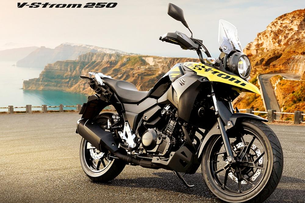Suzuki VStrom 250 gia nhap phan khuc Adventure tri gia 136 trieu dong