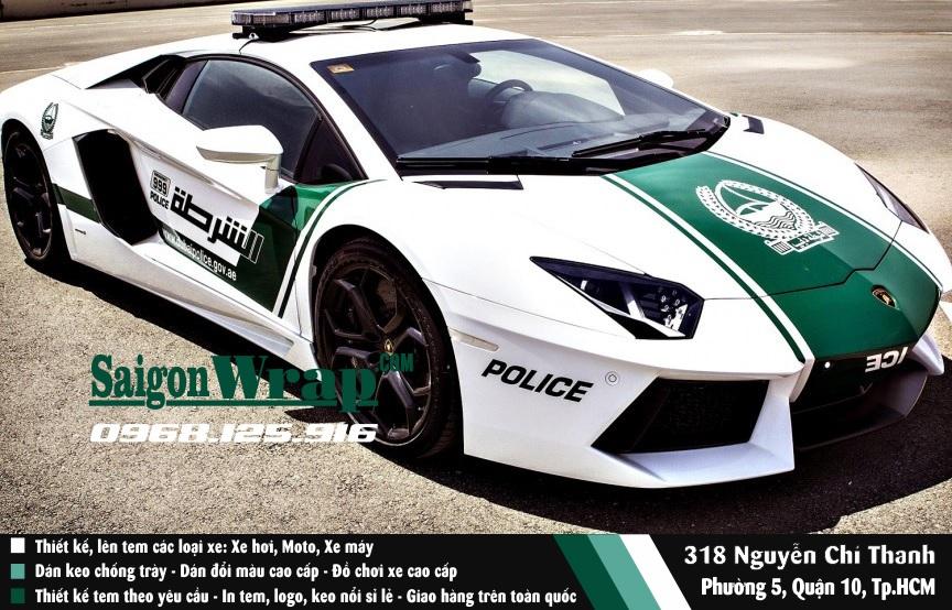 SaiGonWrapCom Tem Xe Hoi Canh Sat Dubai Thi Cong Tem Xe Chuyen Nghiep