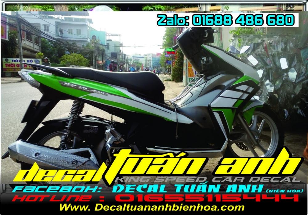 Tong hop bo tem xe Airblade 125 chat do Decal Tuan Anh bien hoa thuc hien - 2