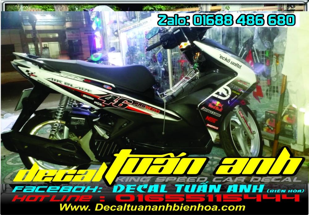 Tong hop bo tem xe Airblade 125 chat do Decal Tuan Anh bien hoa thuc hien - 10