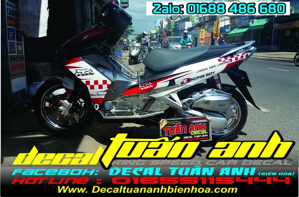 Tong hop bo tem xe Airblade 125 chat do Decal Tuan Anh bien hoa thuc hien - 14