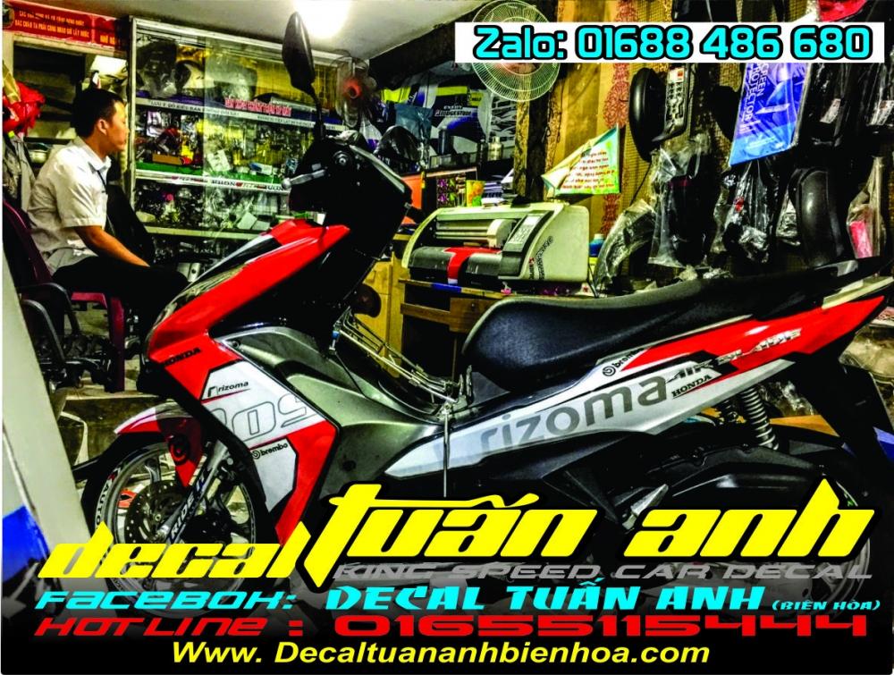 Tong hop bo tem xe Airblade 125 chat do Decal Tuan Anh bien hoa thuc hien - 30