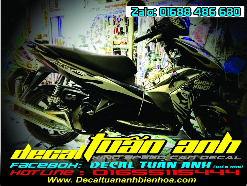 Tong hop bo tem xe Airblade 125 chat do Decal Tuan Anh bien hoa thuc hien - 36