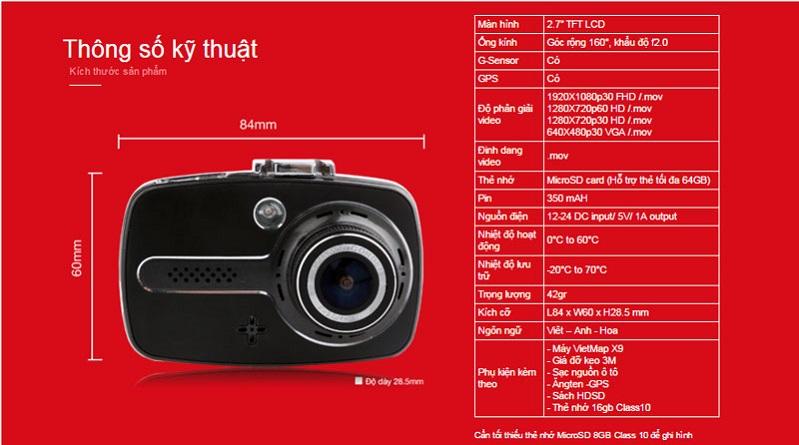 Camera hanh trinh Vietmap X9 - 2