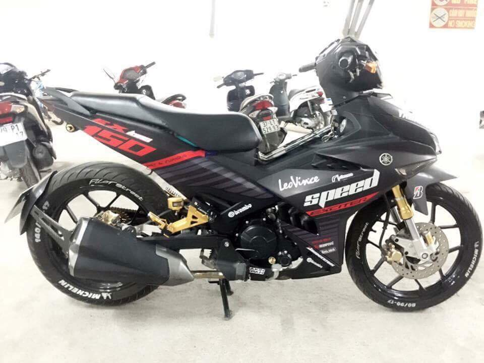 Exciter 150 do ham ho day uy luc voi nong sung Z1000 - 8