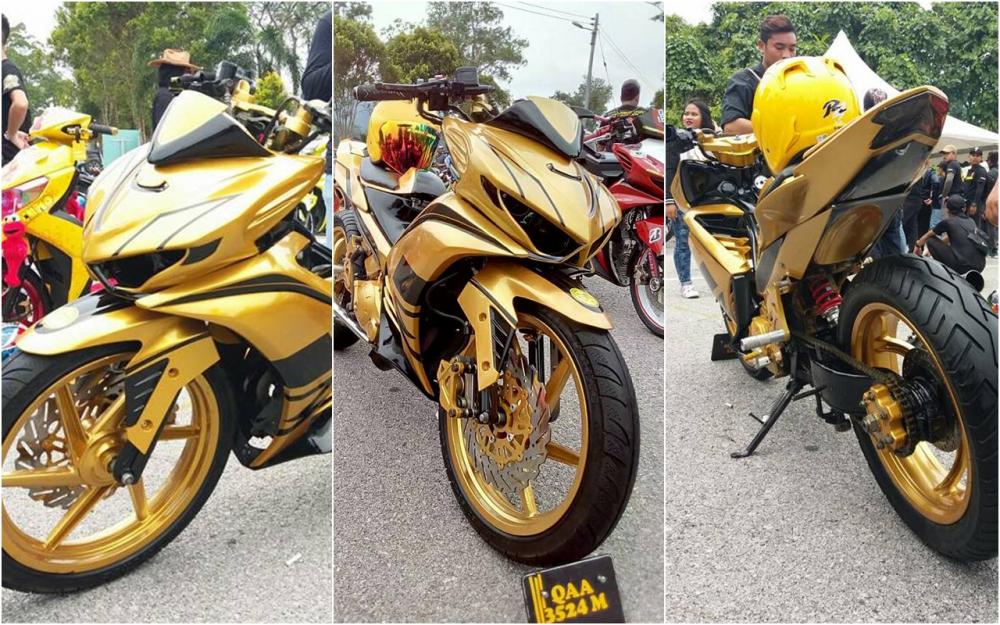 Exciter 2010 do an tuong voi xe sieu nhan Vang cua biker nuoc ban