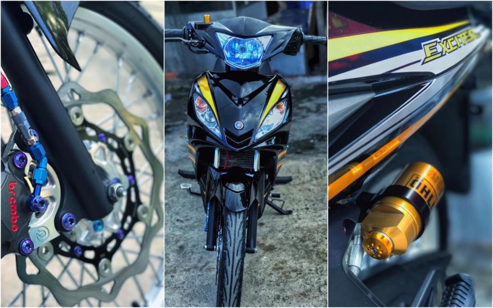 Exciter 2010 do kieng leng keng day an tuong cua biker Viet