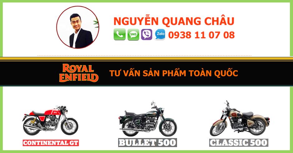 GIA XE ROYAL ENFIELD CLASSIC 500 mau Squadron Blue Mau Xanh Khong Luc LH 0938 11 07 08 - 4