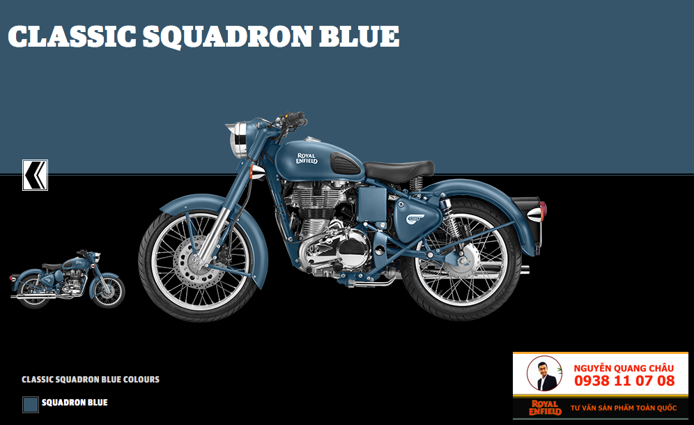 GIA XE ROYAL ENFIELD CLASSIC 500 mau Squadron Blue Mau Xanh Khong Luc LH 0938 11 07 08 - 6