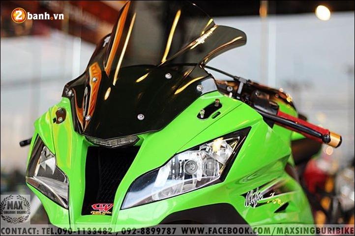 Kawasaki Ninja ZX10R do hao nhoang voi tong mau xanh la - 4