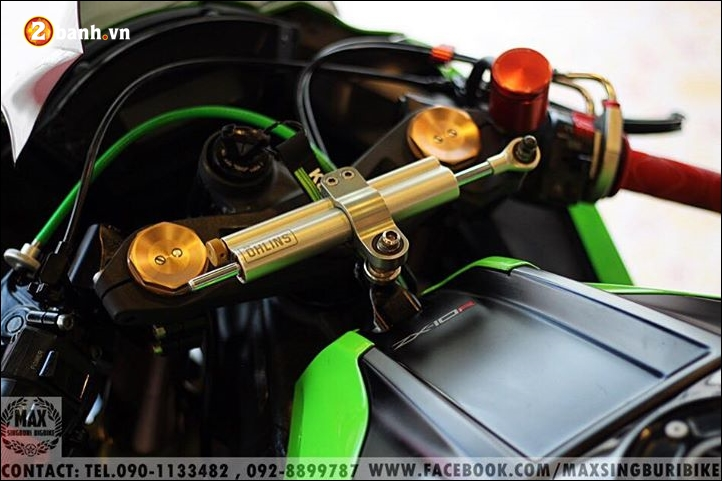 Kawasaki Ninja ZX10R do hao nhoang voi tong mau xanh la - 6
