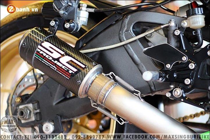 Kawasaki Ninja ZX10R do hao nhoang voi tong mau xanh la - 11