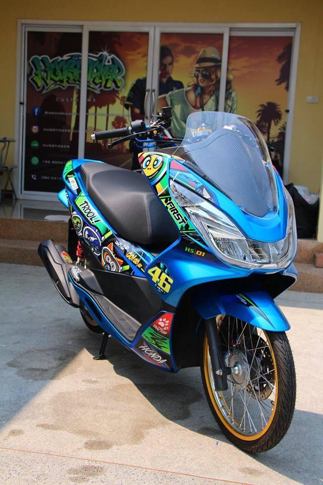 PCX 150 do kieng doc dao voi doi chan mong manh cua biker nuoc ban - 4